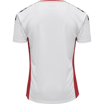 hmlAUTHENTIC POLY JERSEY S/S, WHITE/TRUE RED, packshot