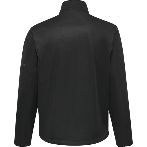hmlNORTH SOFTSHELL JACKET KIDS, BLACK/ASPHALT, packshot