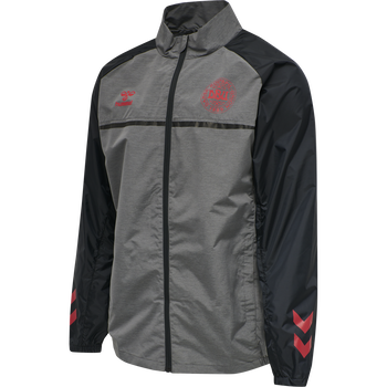 DBU PLAYER PRO TRAINING JACKET, DARK GREY MELANGE, packshot