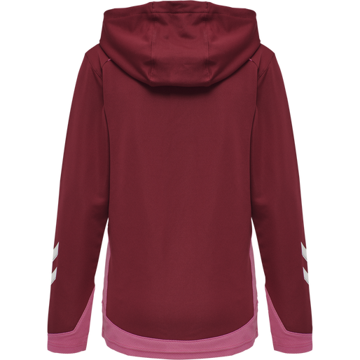 hmlLEAD WOMEN POLY HOODIE, BIKING RED, packshot