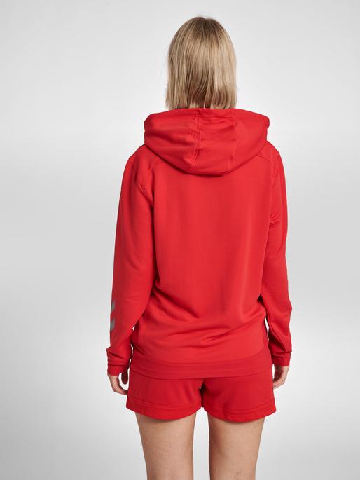 hmlLEAD WOMEN POLY HOODIE, TRUE RED, model