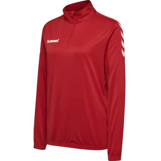 CORE HALF ZIP SWEAT WOMAN, TRUE RED, packshot