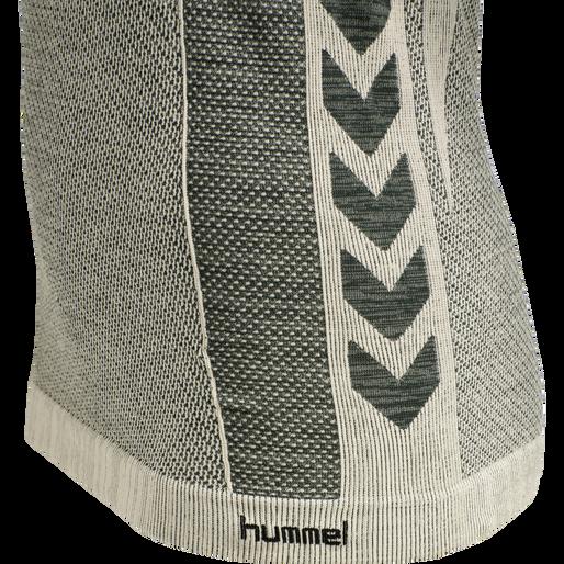 hmlCLEA SEAMLESS T-SHIRT, MAGNET MELANGE, packshot