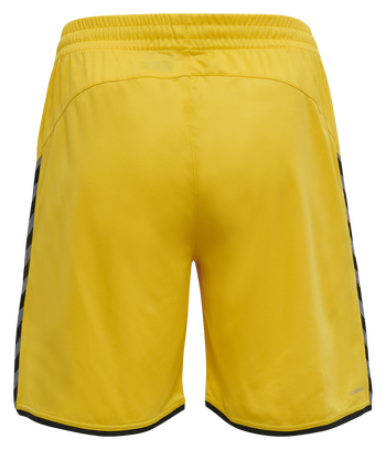 hmlAUTHENTIC POLY SHORTS, SPORTS YELLOW/BLACK, packshot