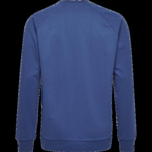 HUMMEL GO COTTON LOGO SWEATSHIRT, TRUE BLUE, packshot