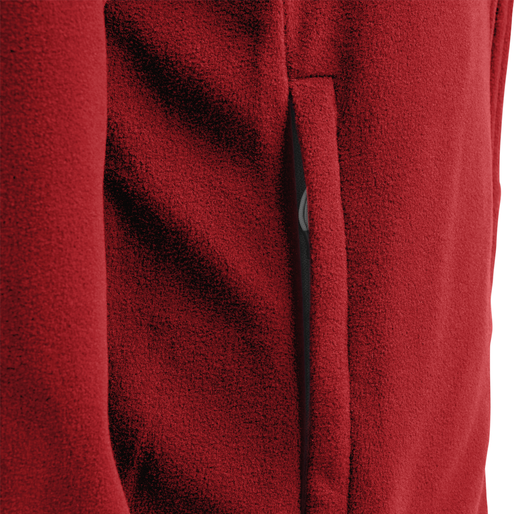 hmlNORTH FULL ZIP FLEECE JACKET WOMAN, TRUE RED, packshot
