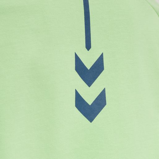 hmlACTION COTTON SWEATSHIRT KIDS, GREEN ASH/BLUE CORAL, packshot