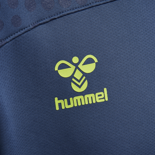 hmlLEAD POLY HOODIE, DARK DENIM, packshot