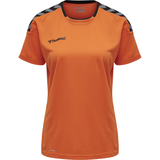 hmlAUTHENTIC POLY JERSEY WOMAN S/S, TANGERINE, packshot