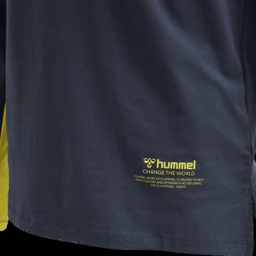 hmlALASKA T-SHIRT L/S, BLUE NIGHTS, packshot