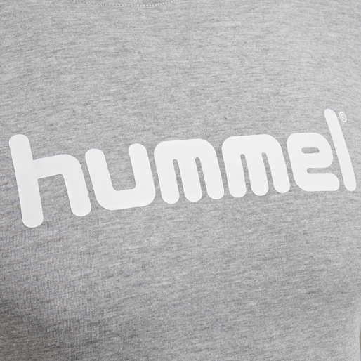 HUMMEL GO COTTON LOGO T-SHIRT WOMAN S/S, GREY MELANGE, packshot