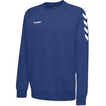 HUMMEL GO KIDS COTTON SWEATSHIRT, TRUE BLUE, packshot