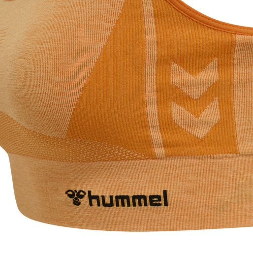 hmlCLEA SEAMLESS SPORTS TOP, BLAZING ORANGE/CARROT CURL MELANGE, packshot