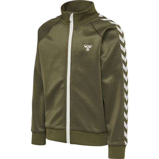 HMLKICK ZIP JACKET, IVY GREEN, packshot