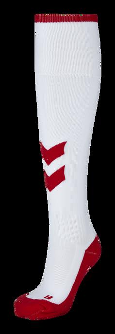 FUNDAMENTAL FOOTBALL SOCK, WHITE/TRUE RED, packshot