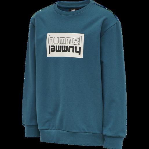 hmlDUO SWEATSHIRT, BLUE CORAL, packshot