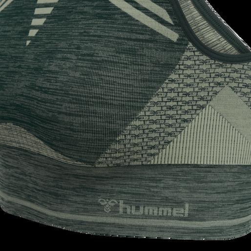 hmlVERA SEAMLESS SPORTS TOP, DARKEST SPRUCE/BASIL MELANGE, packshot