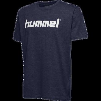HUMMEL GO KIDS COTTON LOGO T-SHIRT S/S, MARINE, packshot