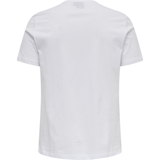 hmlVARSITY T-SHIRT, WHITE, packshot