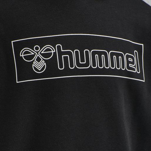 hmlBOXLINE HOODIE, BLACK, packshot