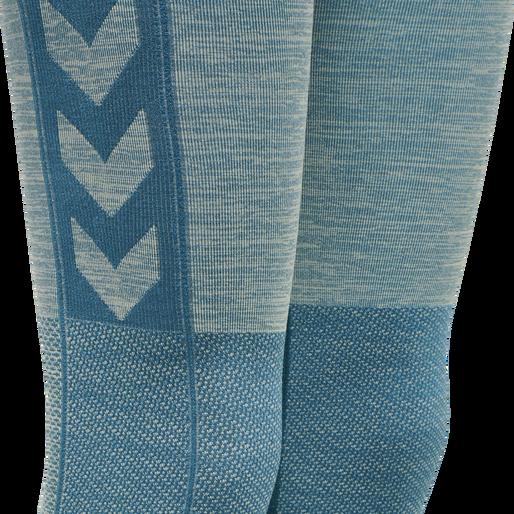 hmlCLEA SEAMLESS MID WAIST TIGHTS, BLUE CORAL/MARSHMALLOW, packshot