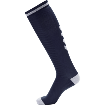 ELITE INDOOR SOCK HIGH, NAVY/WHITE, packshot