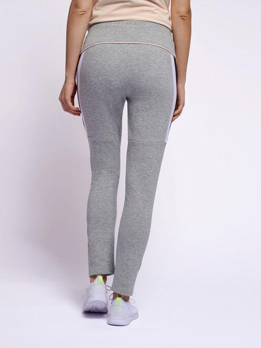hmlNIRVANA SLIM PANTS, GREY MELANGE, model