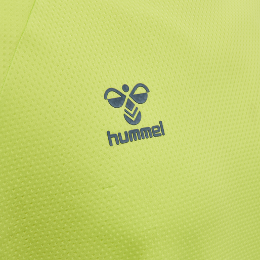 hmlLEAD S/S POLY JERSEY, LIME PUNCH, packshot