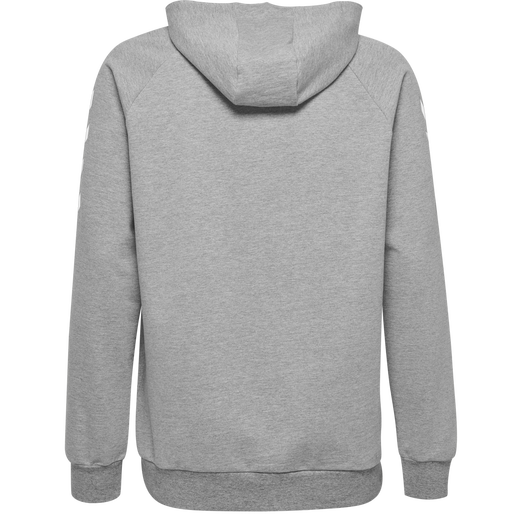 HUMMEL GO COTTON HOODIE, GREY MELANGE, packshot
