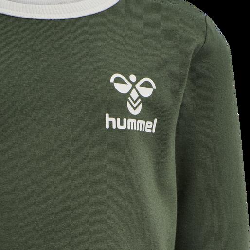 hmlMAUILINO T-SHIRT L/S, THYME, packshot