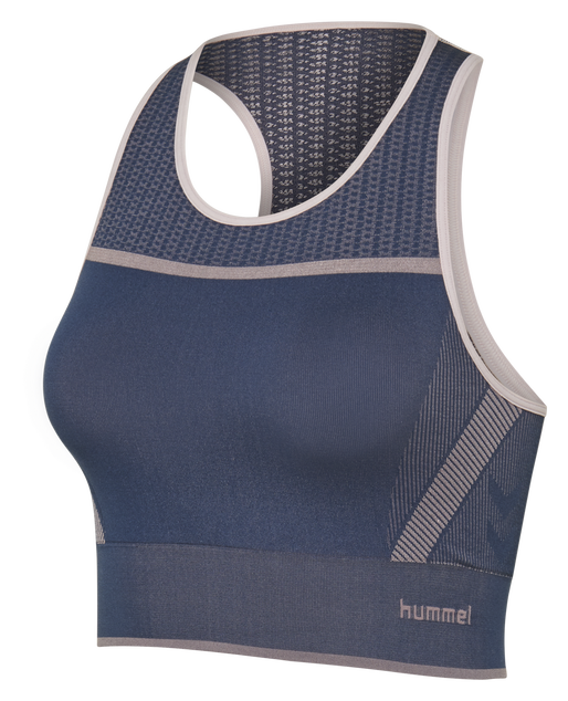 hmlCALYPSO SEAMLESS SPORTS TOP, BLACK IRIS, packshot