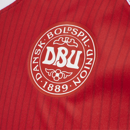 DBU RETRO '86 LANDSHOLDSTRØJE, RED/WHITE, packshot