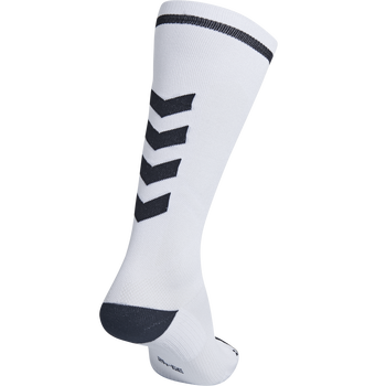 ELITE INDOOR SOCK HIGH, WHITE/BLACK, packshot