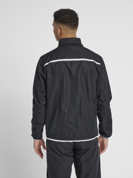 hmlAUTHENTIC TRAINING JACKET, BLACK/WHITE, model