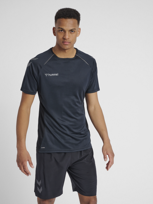 hmlAUTHENTIC PRO JERSEY S/S, ANTHRACITE, model