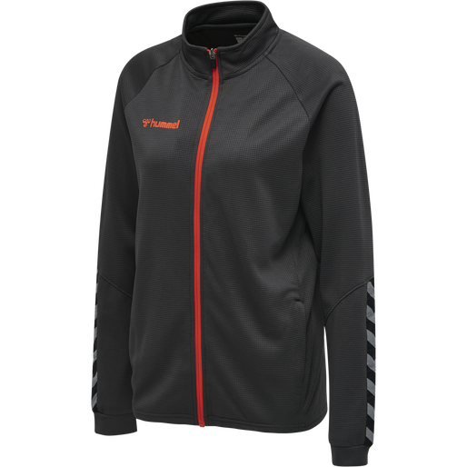 hmlAUTHENTIC WOMEN POLY ZIP JACKET, ASPHALT, packshot