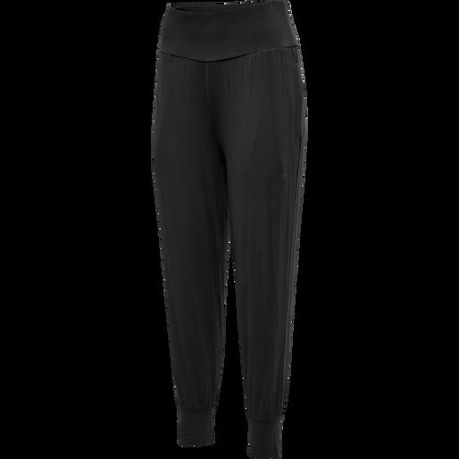 hmlFIONA LOOSE PANTS, BLACK, packshot