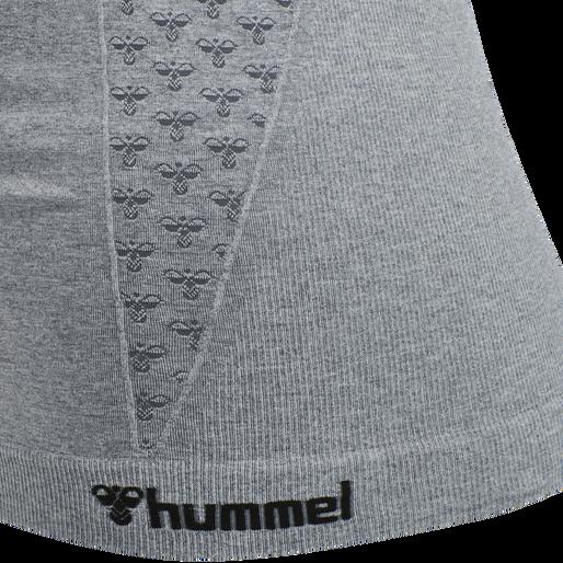 hmlCI SEAMLESS TOP, GREY MELANGE, packshot