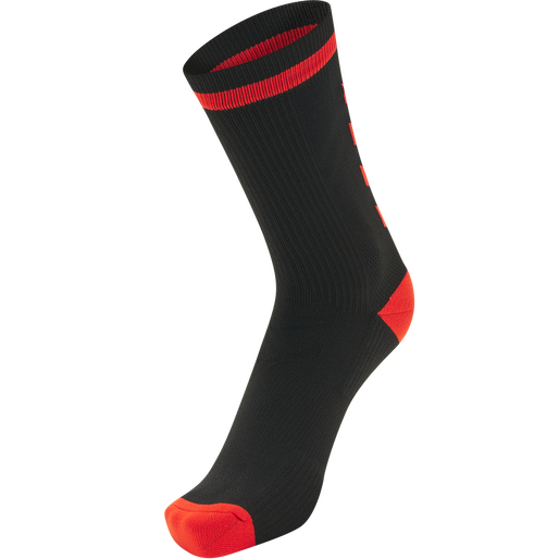 ELITE INDOOR SOCK LOW, BLACK/DIVA PINK, packshot