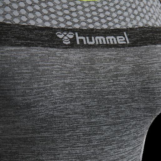 hmlGIA SEAMLESS JUMPSUIT, BLACK MELANGE, packshot