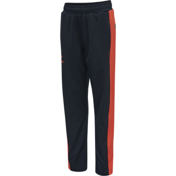 hmlACTION TRAINING PANTS KIDS, DARK SAPPHIRE/FIESTA, packshot