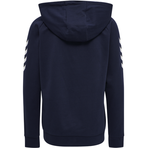 HUMMEL GO COTTON ZIP HOODIE WOMAN, MARINE, packshot