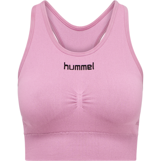 HUMMEL FIRST SEAMLESS BRA WOMEN, COTTON CANDY, packshot