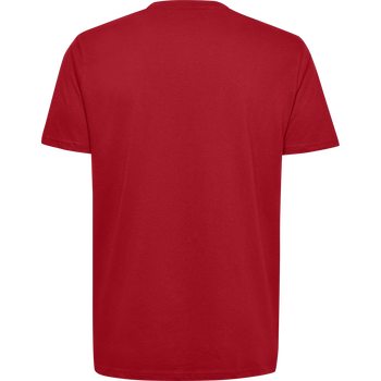 HUMMEL GO KIDS COTTON LOGO T-SHIRT S/S, TRUE RED, packshot