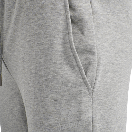 hmlISAM TAPERED PANTS, GREY MELANGE, packshot