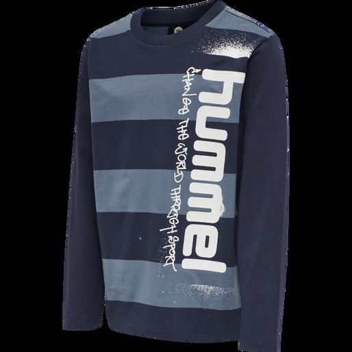 hmlBENNI T-SHIRT L/S, CHINA BLUE, packshot