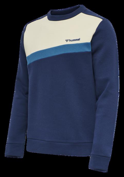 hmlFALCON SWEATSHIRT, MEDIEVAL BLUE, packshot