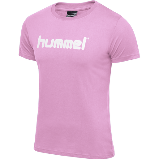 HUMMEL GO COTTON LOGO T-SHIRT WOMAN S/S, COTTON CANDY, packshot