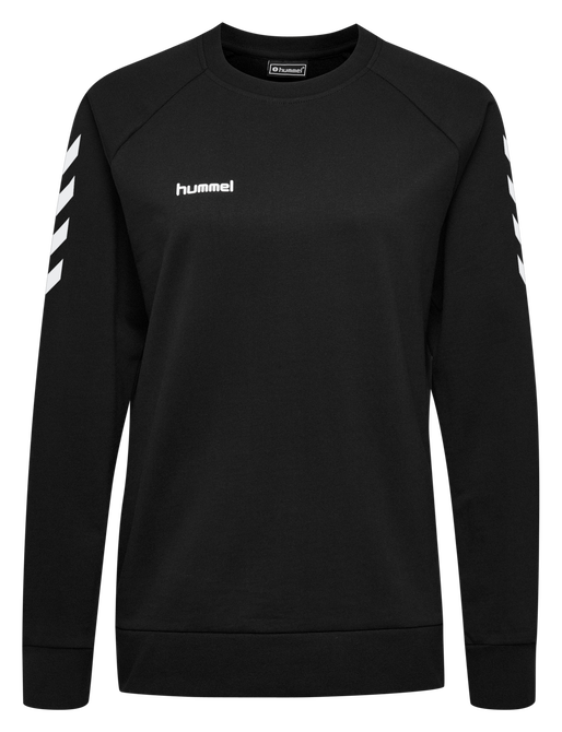 HUMMEL GO COTTON SWEATSHIRT WOMAN, BLACK, packshot