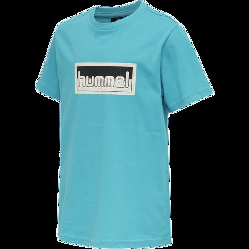 hmlMONO T-SHIRT S/S, SCUBA BLUE, packshot